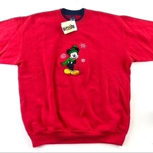 Disney Christmas Mickey with scarf red sweater